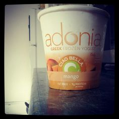 Adonia frozen greek yogurt is honestly one of the most delicious things I've ever had. 9g of protein/serving too!