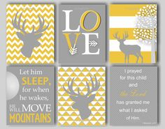 Baby Boy Nursery Art Deer Nursery Bedding Woodland Nursery I Prayed For This Child Boys Room Woodland Bedding Choose Colors -6 8 x 10 Prints on Etsy, $60.00