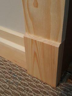 custom baseboard trim, Craftsman style, DIY Baseboard Styles, Baseboard Trim, Baseboards, Craftsman Window Trim, Craftsman Style Doors, Craftsman Style Interiors, Craftsman Interior, Window Casing, Door Casing