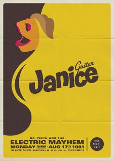 Muppet - Janice Poster - Michael De Pippo