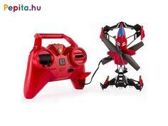Lepd meg gyermeked ezzel a helikopterrel/repülővel amivel megízlelheti a repülés élményét. Gyerkőcöd biztosan élvezni fogja, hogy pilótává válhat és szabadjára engedheti kreativitását szórakozás közben.    Jellemzői:  - Földön és levegőben is használható  - Védőkerettel felszerelt a sérülések elkerülésére  - Giroszkópos stabilizáció  - A játék 4db AA ceruzaelemmel működik melyet a készlet nem tartalmaz  - 8 éves kortól ajánlott    A játékok külön kaphatóak, kérjük megjegyzésbe tüntesd fel… Stunts, Blade, Products, Beauty Products
