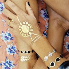 This Zahra set of metallic temporary tattoos is a go-to festival accessory. Oodles of options to keep you covered for $22