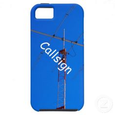 Beam Antenna and Callsign iPhone 5 Case by Florals by Fred #zazzle #gift #photogift
