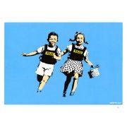 Police-Kids-Jack-And-Jill-by-Banksy. First painted in Banksy's Police Kids Jack and Jill shows Banksy Prints, Art Banksy, Bansky, Graffiti Art, Mr Brainwash, Keith Haring, Grand Tour, Canvas Art Prints, Fine Art Prints