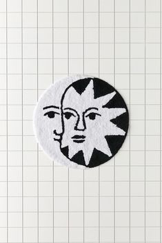 Southern Gothic, Beauty Sale, Beautiful Bathrooms, Bath Mat, Design Inspiration, Moon, Celestial, Black And White, Urban Outfitters
