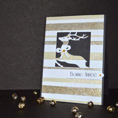 Alexandra pour Scrap à la Carte - Set 2 dies rennes Embosser, Christmas Cards, Tags, Winter, Frame, Diy, Baby Girl Cards, Winter Collection, Pretty Cards