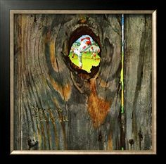 """""""Knothole Baseball"""", August 30,1958 Giclee Print by Norman Rockwell at Art.com"""