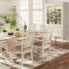 Verona Home Chantilly Lane 7-Piece Dining Furniture Set in Antique White