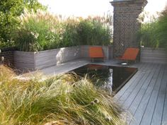 Usable roof terrace at green roof. Diy Pergola, Retractable Pergola, Pergola Ideas, Terrace Ideas, Outdoor Spaces, Outdoor Living, Outdoor Decor, Landscape Design, Garden Design