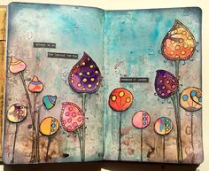 Claire's Crafty Makes: On the lookout....A gorgeous double page journal spread…