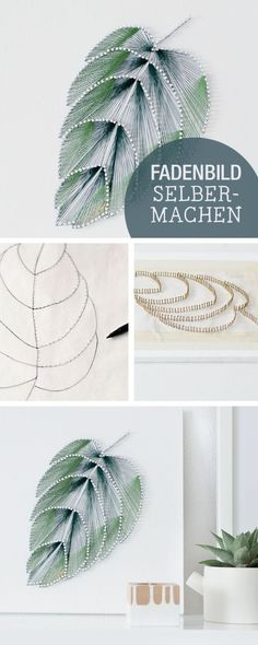 Diy Crafts Ideas : DIY-Anleitung für ein Fadenbild im Botanik-Stil Wanddeko selbermachen einrich