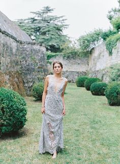 French Chateau Creates a Historic and Elegant Backdrop for this Sophisticated Bridal Shoot and Beaded Vintage Gown - Once Wed Vintage Gowns, Vintage Bridal, Runaway Bride, Elegant Sophisticated, Once Wed, French Chateau, Bride Gowns, Bridal Shoot, Wedding Designs