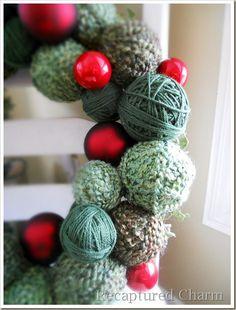 Holiday Yarn Wreath