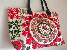 Suzani Handbag - Blossom Frangipani