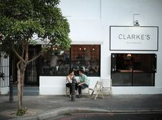 Stripped-Down in Cape Town: Clarke's Bar and Dining Room - Remodelista Commercial Design, Commercial Interiors, Café Bistro, Retail Signage, Storefront Signage, Shop Facade, Cafe Restaurant, Restaurant Interiors, Office Interiors