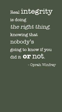 No integrity.