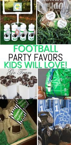Football Party Favors! The best party favors for birthdays and end of season parties. Boys and girls will love any of these favor ideas from goodie bags to candy to gumballs to toys. Coolest football party favors!