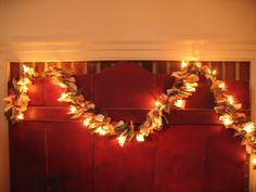 Rag Tied Twinkle Light Garland