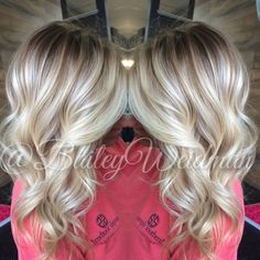 Melted root with bright blonde baliage. In SC? Make an appointment with me!