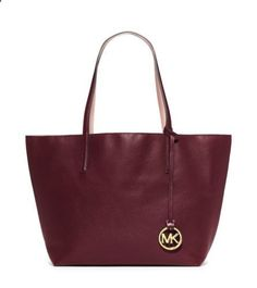 MICHAEL Michael Kors Izzy Large Reversible Leather Tote More Izzi Large, Wink Wink, Gifts Ideas, Reverse Leather, Michael Kors, Leather Totes, Large Reverse, Handbags Dreams Izzy Large Reversible Leather Tote | Michael Kors