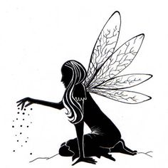 Fairy Stamp, Fairy Dust Silhouette, Lavinia Stamps, Acrylic Stamp by InkArtDesigns on Etsy