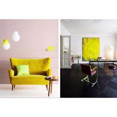Yellow interior design decor
