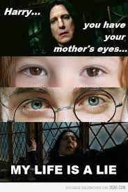 the awkward moment when you find out that harry potter doesn't have his mother's eyes........