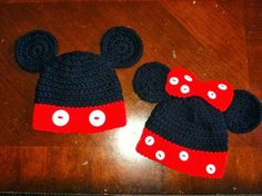 Mickey and Minnie Hats   $20 each