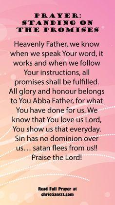 Prayer - Standing on the Promises of God