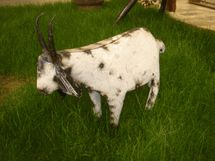 Tin Goat Recycled Metal - Lawn Ornament Yard Decor