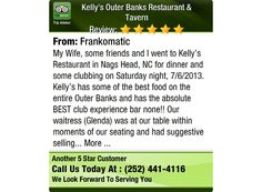 My Wife, some friends and I went to Kelly's Restaurant in Nags Head, NC for dinner and...