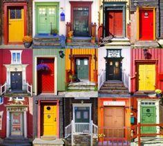 Røros, Noruega | Patrimonio de la humanidad | Collage de puertas.