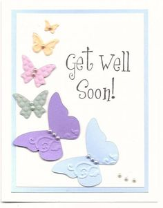 love the cascading butterflies-this would be a lovely birthday or sympathy card as well