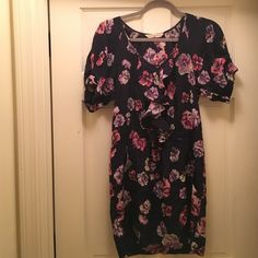 Rebecca Taylor silk floral ruffle dress 100% silk!! Only worn twice, in perfect condition :) Rebecca Taylor Dresses