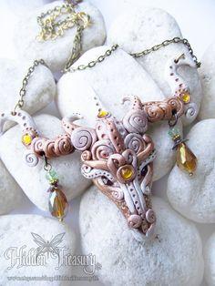 Goddess Dragon Necklace handmade fantasy by HiddenTreasury12 https://www.etsy.com/shop/HiddenTreasury12
