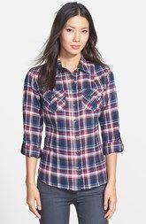 Sandra Ingrish Plaid Flannel Shirt (Regular & Petite)