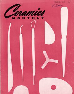 Ceramics Monthly magazine - issue from March 1963