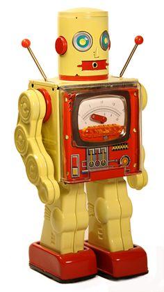 So cool! Metal House Meter Robot / via tintoyrobot.com