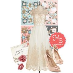 In this outfit: Sparkling Celebration Dress, Botani-call or Write Stationery Set, Through the Post Clutch, Retro Rosie Earrings in Dusty Rose, Me and My Pearls Heel in Rosewater
