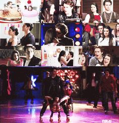 rachel berry & jesse st. james (glee)      rachel: i thought you'd never come back.      jesse: and miss all your drama? never.