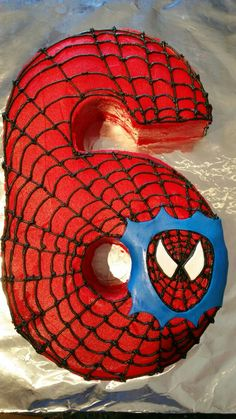 Spiderman Cake. Boys Bday Cakes, 6th Birthday Cakes, Superhero Birthday Party, 6th Birthday Parties, Cakes For Boys, Birthday Fun, Hulk Cakes, Birthday Countdown, Cake Shapes