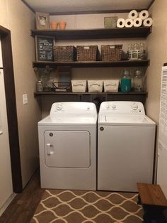 laundry room organization Cool Master These 4 Tips of Clever Storage for Your Laundry Room decorreal Laundry Room Shelves, Laundry Room Remodel, Laundry Decor, Farmhouse Laundry Room, Small Laundry Rooms, Laundry Room Organization, Laundry Room Design, Laundry Storage, Farmhouse Decor