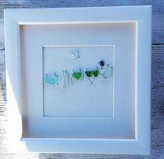 Pebble art birds wire sea glass wire for laundry wall art