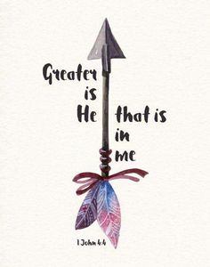 Greater is He that is in me- 1 John We can do great things because He lives in us. He goes before us and fights our battles. What we think we can't do, we can! This is because He dwells in our hearts by faith. He is stronger then any evil of this world. Bible Verses Quotes, Bible Scriptures, Faith Bible, Scripture Crafts, Strength Bible Quotes, Faith Quotes, Greater Is He, Bibel Journal, After Life