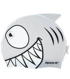 Little fishes will steer clear of your little pup in the Sporti Cartoon Shark Silicone Swim Cap Jr. Kids will love the protruding shark fin. Nothing makes swimming more fun than this cap. Silicone swim caps outlast their latex counterparts. Silicone is gentler on the hair, more tear resistant and easier to get on and off.