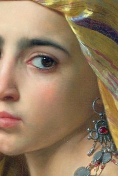 Oriental Girl an granade, detail, William Adolphe Bouguereau, William Adolphe Bouguereau, Beaux Arts Paris, Paintings I Love, Portrait Paintings, Oeuvre D'art, Love Art, Painting & Drawing, Art History, Amazing Art