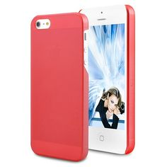 Ultra-thin Frosted Translucent Hard Case For iPhone 5 - Red