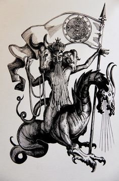 The Occult Gallery Beast Creature, Satanic Art, Dark Artwork, Esoteric Art, Arte Obscura, Macabre Art, Occult Art, Sketch Inspiration, Arte Horror