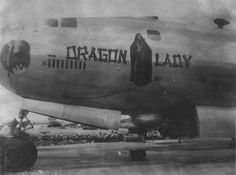 Looks like Anna May Wong as the inspiration. I've seen a lot of nose art, but never this one. Clearly, it was a different time. Air Birds, Female Dragon, Dragon Lady, Blue Oyster Cult, Nose Drawing, Aircraft Painting, Ww2 Photos, Old Farm Equipment, Aircraft Design