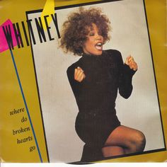 "Whitney Houston / Where Do Broken Hearts Go / Where You Are / 7"" Vinyl 45 RPM Jukebox Record & Picture Sleeve"